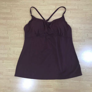 REI padded althletic strap maroon wine top size 12